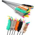 Pet Kitten Play Toys  Length Interactive Fun Toy Cat Catcher Teaser Wand Feather