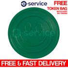 EMBOSSED PLASTIC TOKENS GREEN SMILE SMILEY FACE SCHOOL PARTY EVENT REWARD
