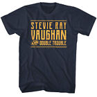 Stevie Ray Vaughan & Double Trouble Men's T Shirt Guitar Rock Band Concert Tour  image