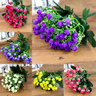 36heads Artificial Silk Flowers Bunch Wedding Home Grave Outdoor Bouquet Uk