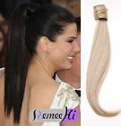 Grade 7A Human Hair Ponytail Extension Wrap 100% Real Remy Premium Long 15-24''
