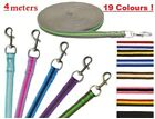 Lunge Line Rein Padded Soft Cushioned Nylon Webbing Rope 4 Meters All Colours