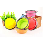 Pet Dog Cat Bowl Collapsible Silicone Cup Dish Food Water Feeding Puppy Best