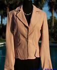 Cache Texture Leather Jacket Top 0/2/4/6/10/12/14 Baby Lip Pink Color NEW $298