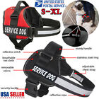 Adjustable Service Dog Vest Harness Patches Reflective Small Large Medium US