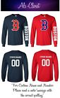 Boston Red Sox Logo Baseball Long Sleeve Shirt with Custom Name on Ebay