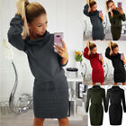 Womens Ladies Winter Sweatshirt Long Sleeve Sweater Jumper Winter Dress Uk 6-16