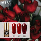Mefa 3Pc Set UV LED Soak Off Gel Nail Polish Pink Nude Red N