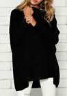 UK Womens Ladies Long Sleeve Sweater Blouse Oversized Knit Jumper Pullover Tops