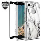 For Google Pixel 3 Hybrid Graphic Colorful Case W/ Glass Screen Protector