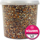 SQUAWK No Mess Seed Mix - All Year Round Premium Wild Bird Garden Food For Birds