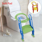 Potty Trainer Toilet Seat Chair Kids Toddler W/ Ladder Step Up Training Stool US image