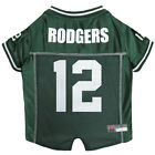 Aaron Rodgers Green Bay Packers #12 Licensed NFLPA Dog Jersey Green, Sizes XS-XL $27.97 USD on eBay