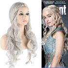 Used, Daenerys Targaryen Dragon Princess Game of Thrones Cosplay Wig Braid Blonde Gray for sale  USA