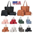 4pcs Women Leather Handbag Shoulder Bag Tote Purse Messenger Satchel Clutch USA