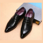 Mens Formal Dress British Oxford Leather Shoes Pointy Toe Leisure Retro Business