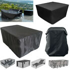 Patio Garden Rattan Outdoor Furniture Set Square Rectangle Table Chair Cover New