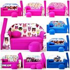 KIDS SOFA BED BEDS CHILDREN FURNITURE + FREE FOOTSTOOL & CUSHION PRESENT GIFT