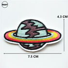 Embroidery Iron On Patches Clothing DIY Stripes Clothes Planet Stickers Patch