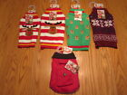 NEW Pet Central Dog Christmas Holiday Sweater Pocket Jacket  YOU CHOOSE SZ/STYLE