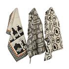 """DII Cotton Halloween Holiday Dish Towels, 18x28"""" Set of 3, Decorative Oversized"""