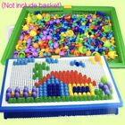 Children Kids Puzzle Peg Board 296 Pegs Early Educational Toys Creative Mosaic