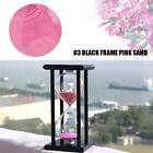 30/60 Minutes Wood Sand Glass Hourglass Timer Clock Home Office Decor Gift Magic