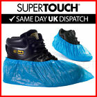 2000 Disposable Shoe Cover Overshoes Blue Anti Slip Plastic Cleaning Boot Safety