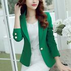 Plus Size Women Office Blazer Jacket One Button Coat Outwear Long Sleeve Tops US
