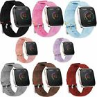 For Fitbit Versa Woven Canvas Fabric Replacement Wristband Watch Wrist Band POY image