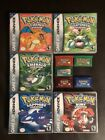 Pokemon Fire Red Leaf Green Ruby Sapphire Emerald *WITH CASE* [US SELLER]