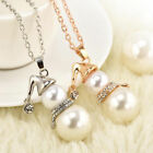 Christmas Snowman Pearl Necklace New Year Gift Sweater Chain Ladies Accessories