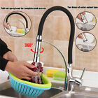 360° Kitchen Laundry Faucet Mixer Tap Black Hose Pull Down Sink Basin Deck Mount
