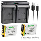 Kastar Battery Dual Charger for GE GB-40 & GE E1050 GE E1050TW GE E1055 Camera