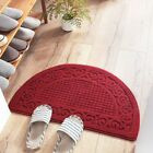 Welcome Door Mat Brown Half Oval Round Outdoor Floor Rug Entrance Mats Decor