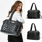 Water Resistant Quilted Baby Diaper Bag Shoulder Nappy Changing Tote Bag Purse