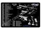 GUN CLEANING MAT Walther Arms PPS M2 9mm Maintenance Range Firearm Pistol Pad