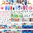 10Sheets Christmas Nail Decals Water Transfer Nail Art Stickers Decorations Tips $0.99 USD on eBay