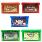 5 Styles Fan Advance Gameboy Cartridge Game Card For Pokemon NDSL/GBC/GBM/GBA/SP