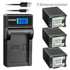Kastar Battery LCD Charger for Canon BP-820 BP-828 & Canon XA30 Video Camera