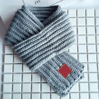 Kids Boys Girls Winter Scarf Kids Pompom Baby Scarf Neck Warmer Scarves Knitting