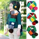 Внешний вид - Kids Boys Girls Winter Scarf Kids Pompom Baby Scarf Neck Warmer Scarves Knitting