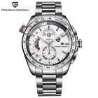 PAGANI DESIGN Mens Date Chronograph Quartz 30M Waterpoof Wrist Watch Steel Band