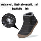 Snow Ankle Boots Warm Fur-lined Shoes for Men Women Waterproof Outdoor Xmas Gift