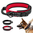 Military Dog Collar With Durable Handle Heavy Duty Metal Buckle Training K9