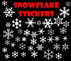 SNOWFLAKES Stickers 3 x Sizes - Great for WALLS, GLASS, ANY FLAT SURFACE