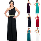 KOH KOH One Shoulder Grecian Outfit Evening Bridesmaid Long Sexy Maxi Dress Gown