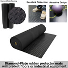 Black Rubber Flooring Rolls Made From High Quality Synthetic Diamond Plate Mats image