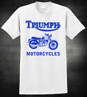 TRIUMPH Motorcycle T-shirt - Logo Vintage Motorcycle - 3 Colours Tee $18.99 USD on eBay