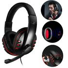 Gaming Headset Stereo Surround Headphone 3.5mm Wired Mic For PS4/Laptop Xbox one